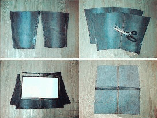DIY Stylish Handbag from Old Jeans 1