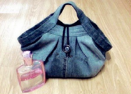 DIY Stylish Handbag from Old Jeans 23