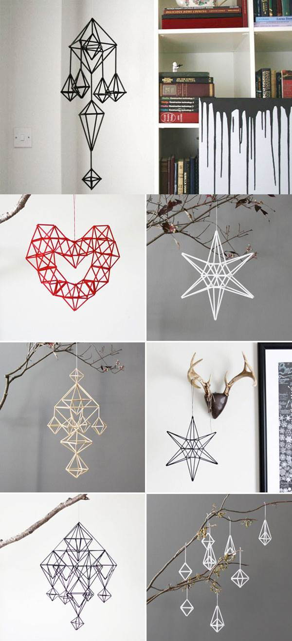 DIY Unique Hanging Decorations from Straws 1
