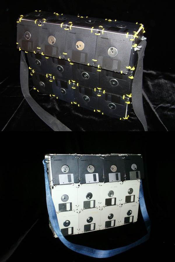 10 Creative Ways to Repurpose Your Old Tech Products --> Floppy Disk Bag
