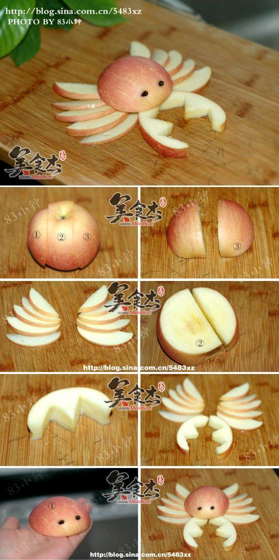 Food Art DIY - Apple Crab 2