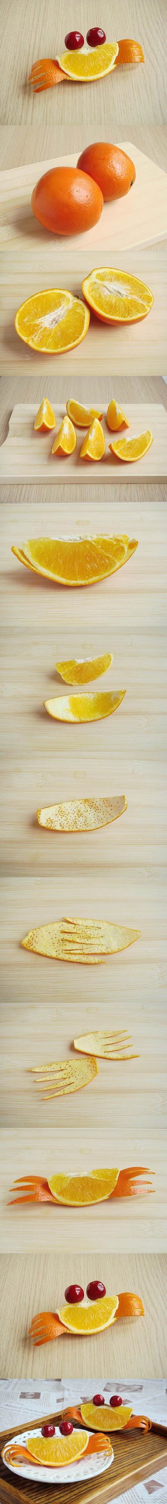 Food Art DIY - Orange Crab