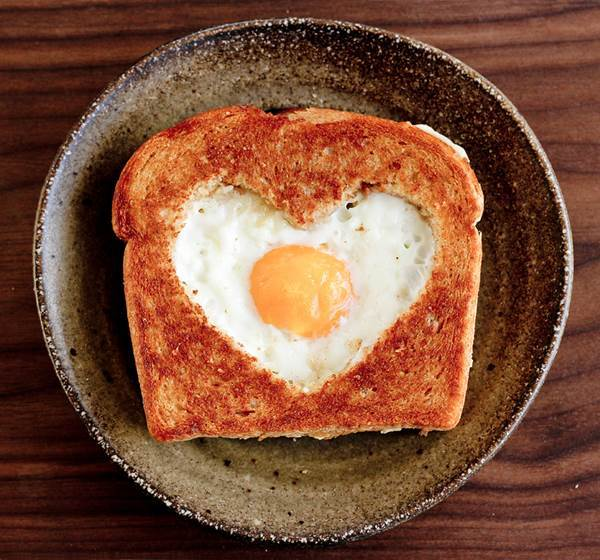 Heart Shaped Egg and Toast