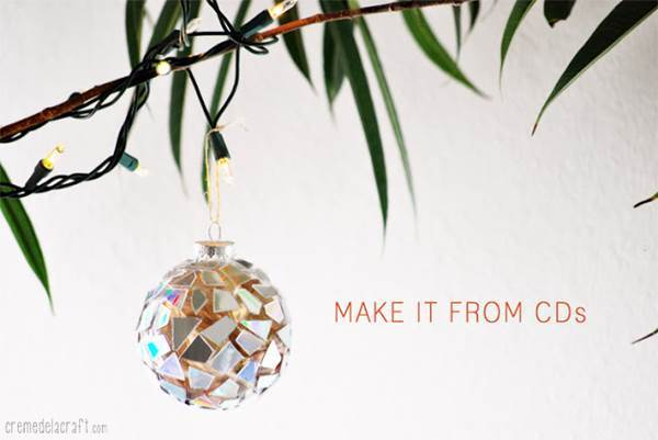 10 Creative Ways to Repurpose Your Old Tech Products --> Mosaic Ornaments Of Old CDs