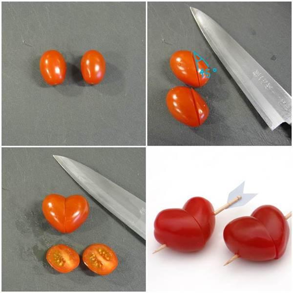 Heart Shaped Cupid's Arrows Cherry Tomato