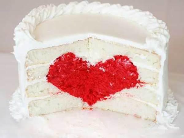 Red Velvet Heart Surprise Inside Cake