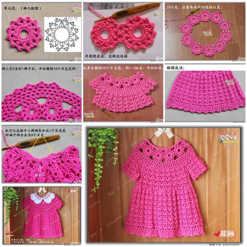 Diy Beautiful Crochet Dress For Girls