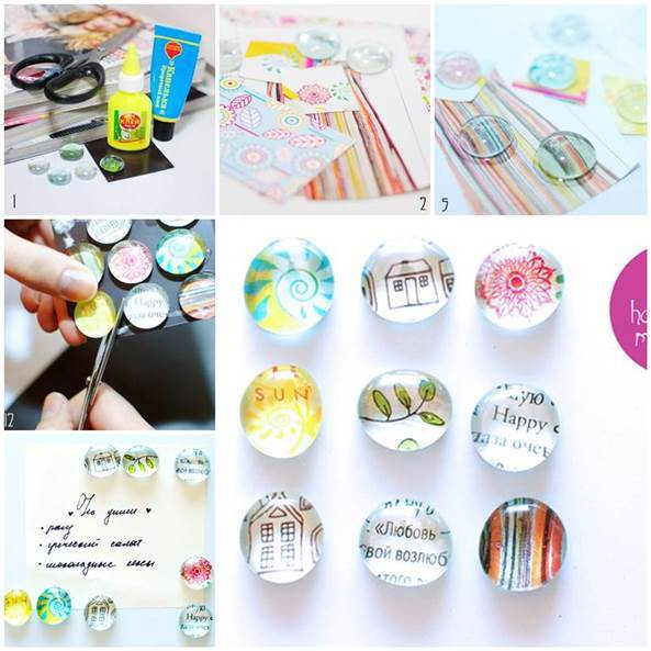 DIY Beautiful Fridge Magnets 3