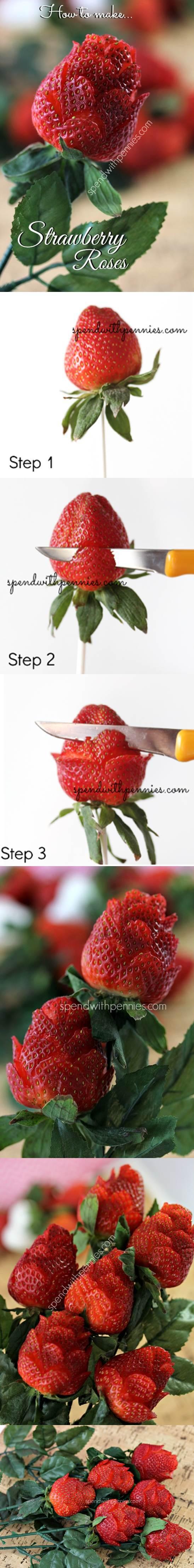 DIY Beautiful Strawberry Roses 2