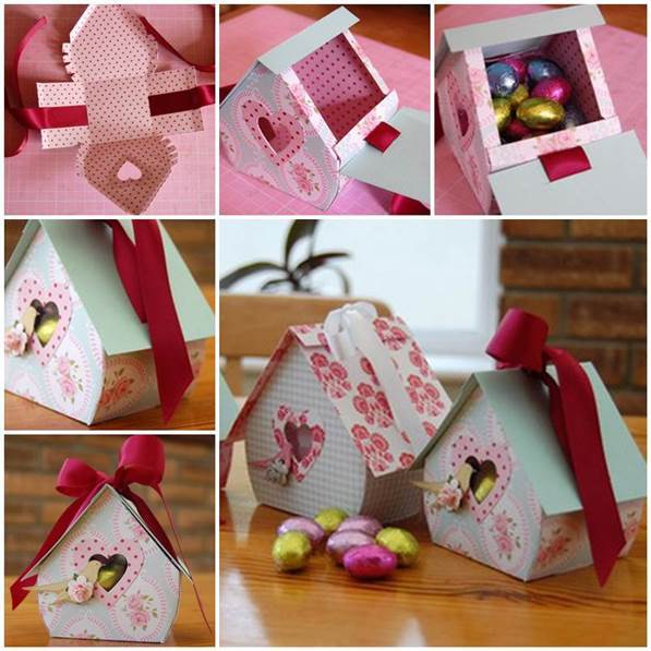 DIY Bird Nest Gift Box