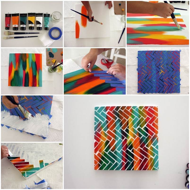 Diy creative painting wall art for Creative paintings pictures