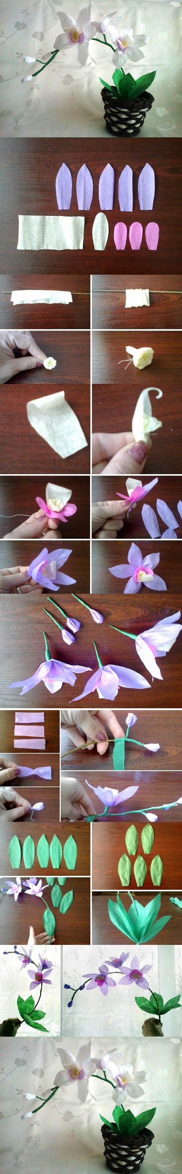 DIY Crepe Paper Orchids 2