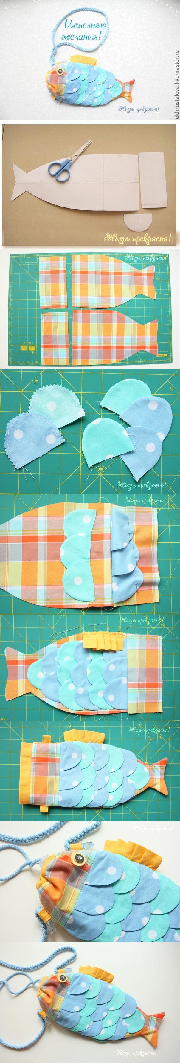 DIY Cute Fish Handbag for Kids 2