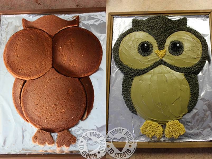 DIY Cute Owl Cake 1