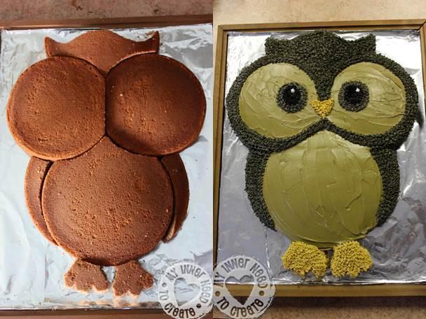 DIY Cute Owl Cake