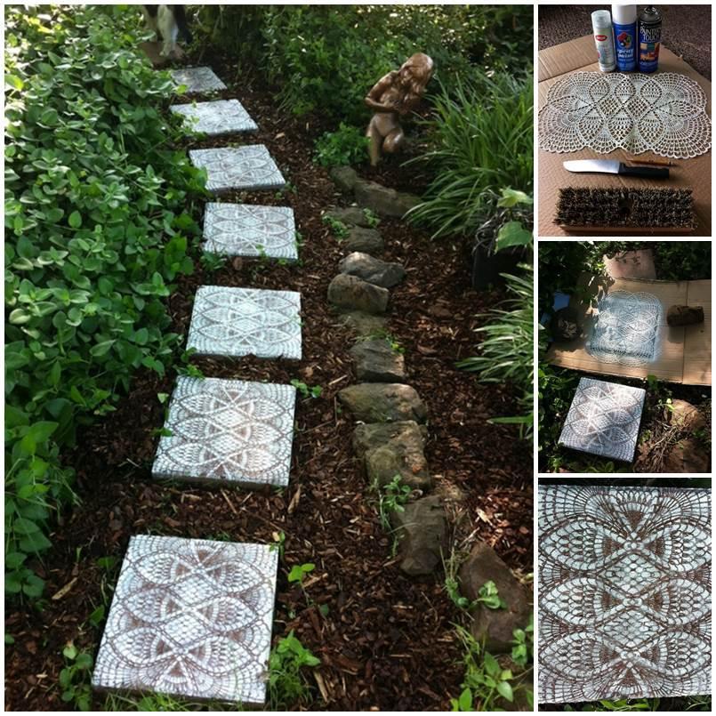 DIY Delicate Lace Garden Path