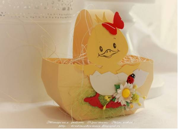 DIY Easy Cardboard Easter Basket