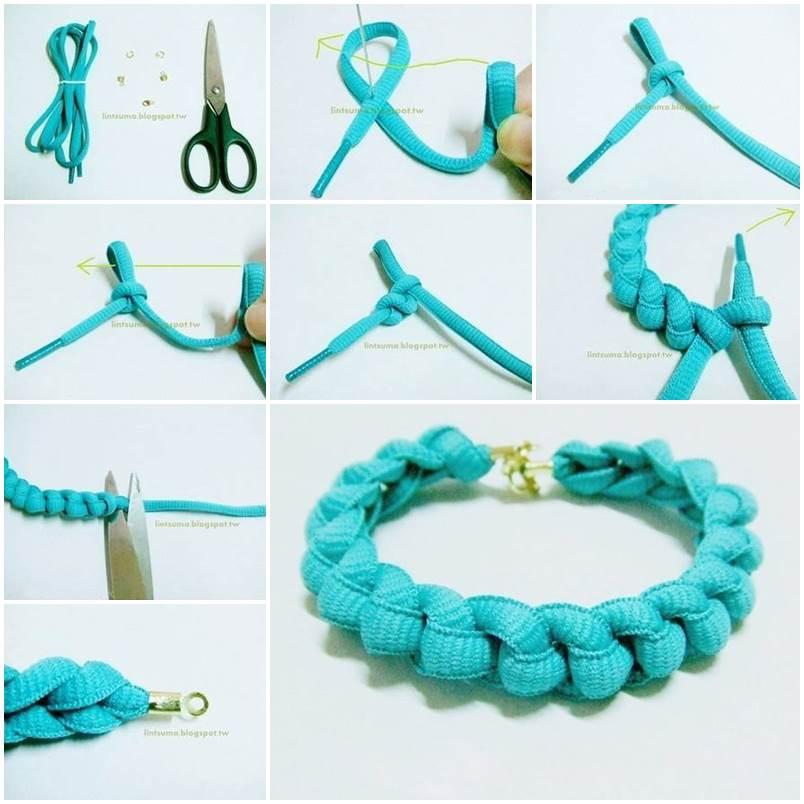 Diy Easy Shoelace Braided Bracelet