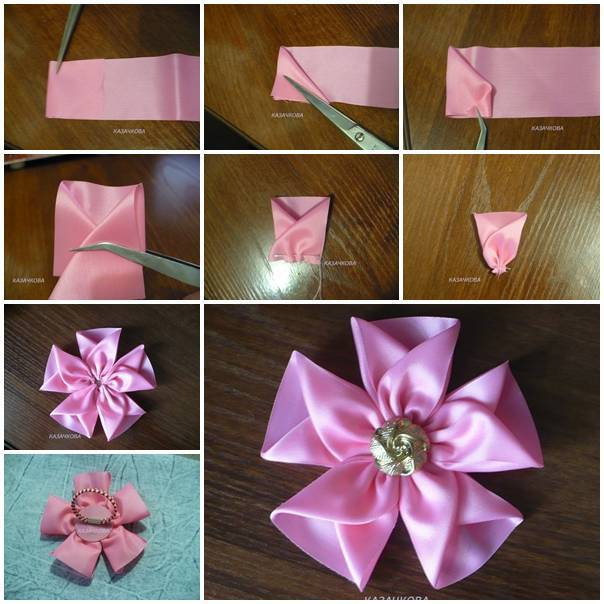 Diy Easy Silk Ribbon Flower