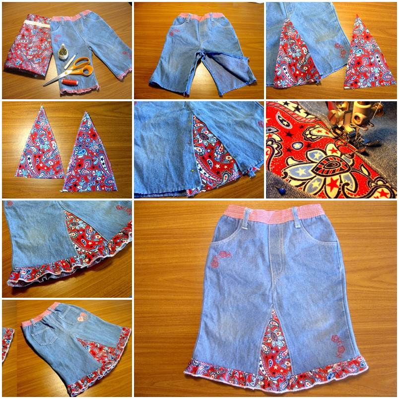 6caf02d7dc DIY Easy Skirt from Old Jeans