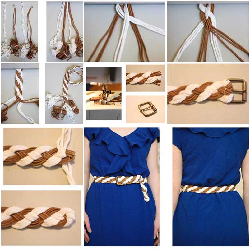 diy handmade woven belt