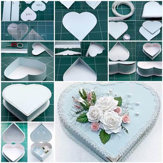 Diy heart shaped gift box negle Images
