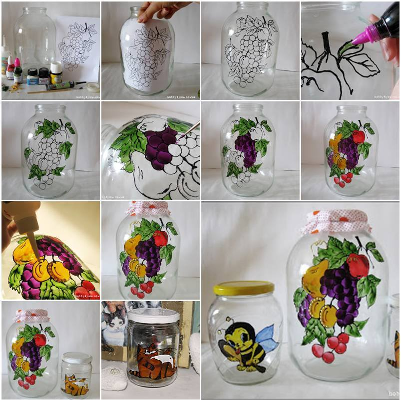 DIY Glass Jar Painting Decoration
