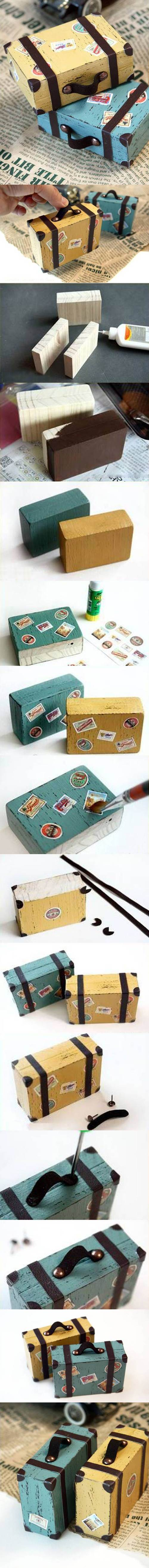 DIY Lovely Mini Suitcase Paperweight 2