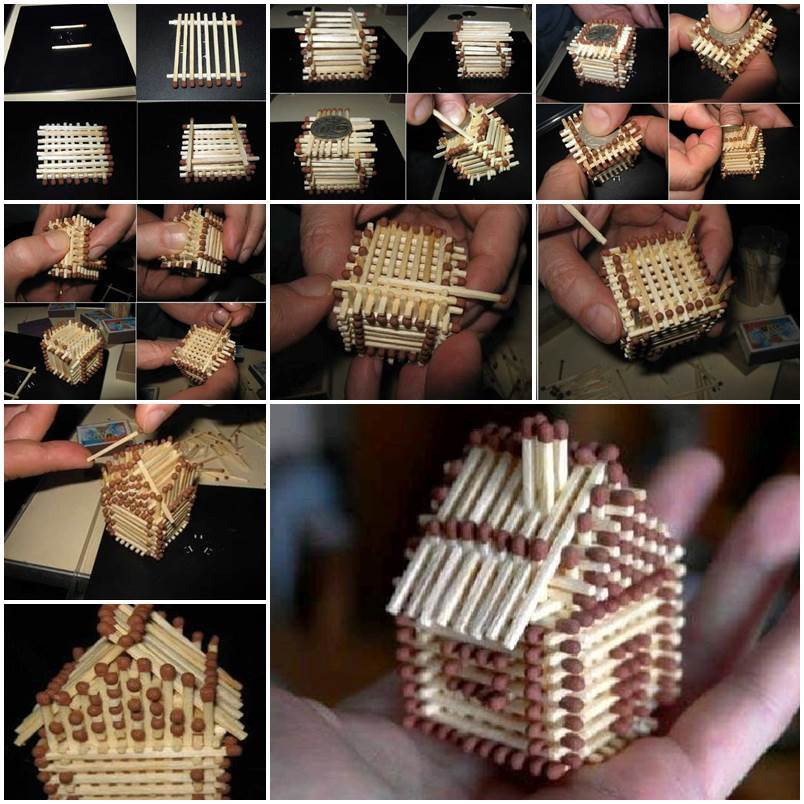 DIY Unique Crafts Of Matches
