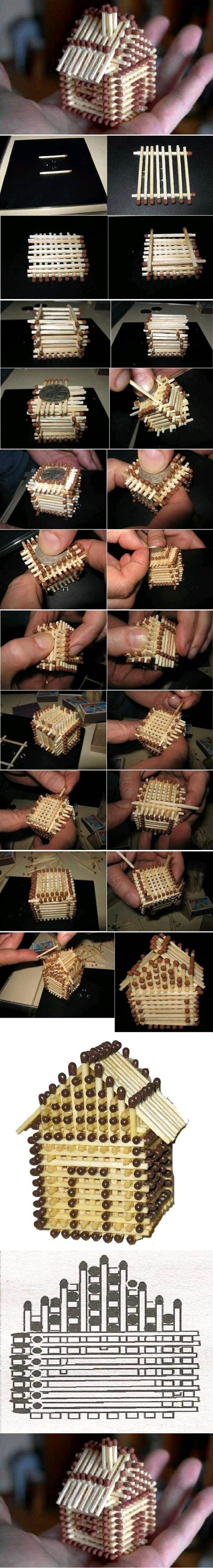 DIY Mini House with Matches 2