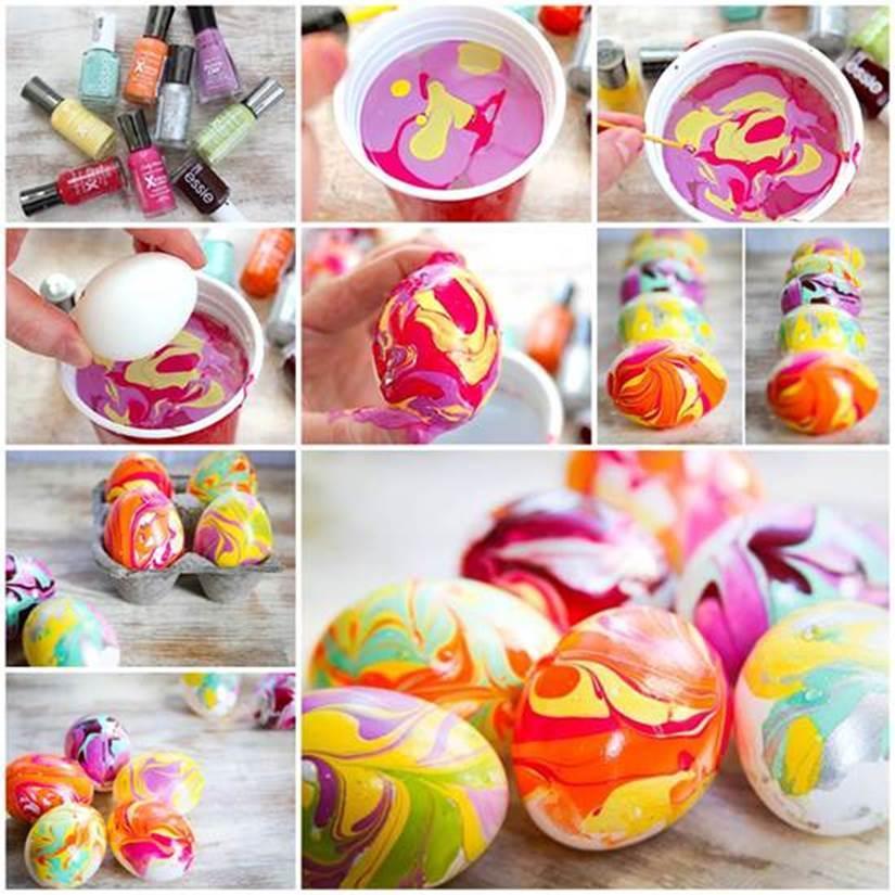 DIY Nail Polish Dipping Easter Eggs 1