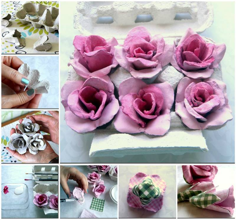 Egg Carton Crafts Part - 32: Egg Carton Craft - Beautiful Roses
