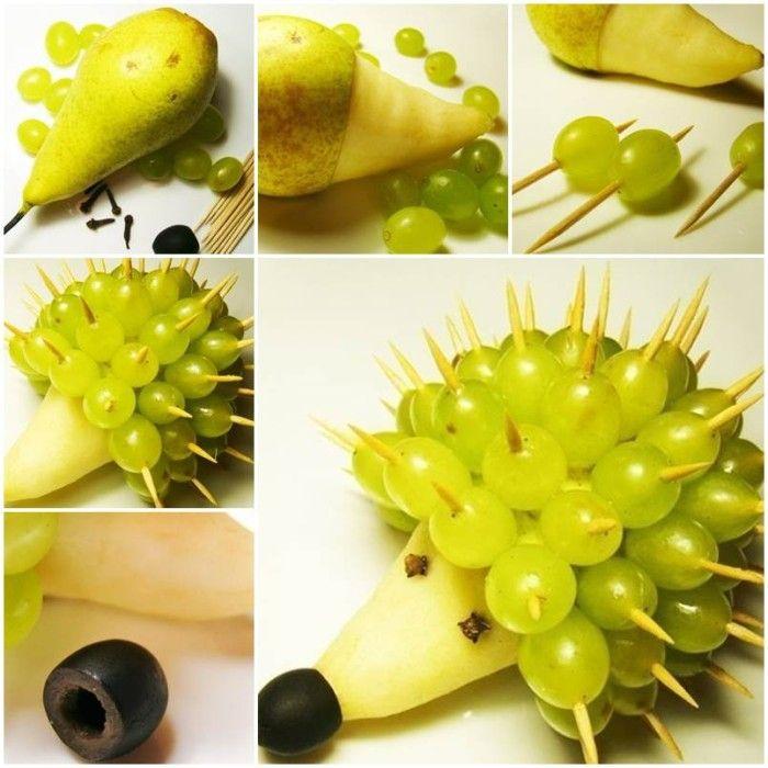 jeż z owoców