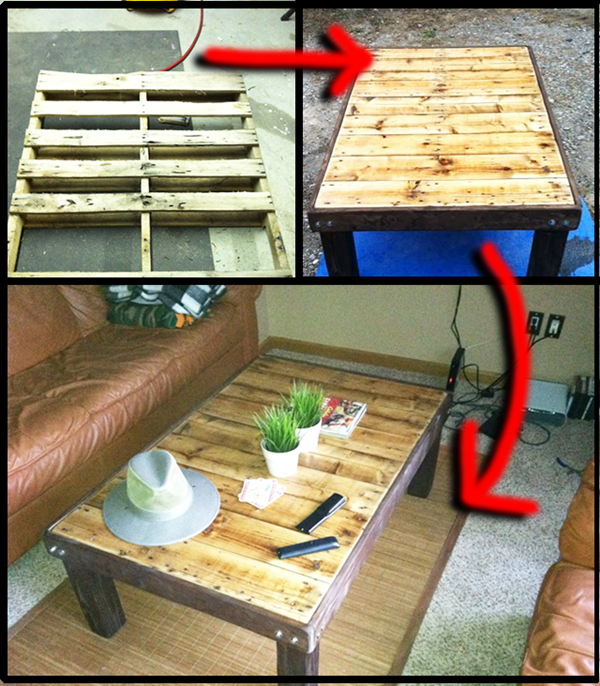 How-To-Make-a-Pallet-Table