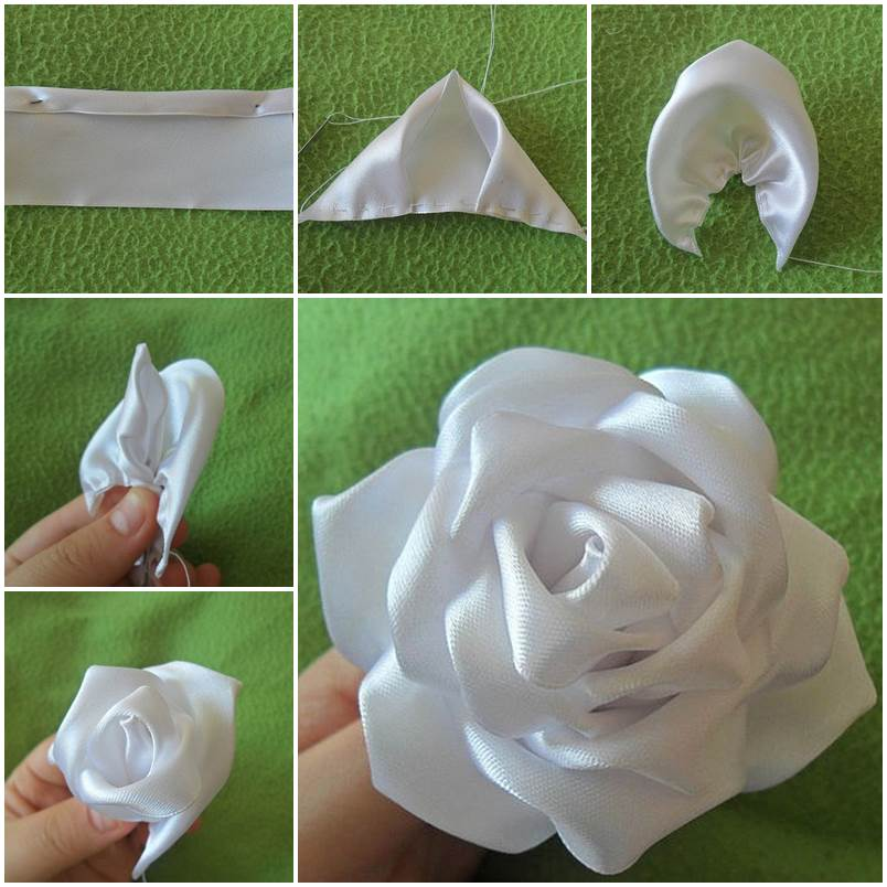 Ribbon flowers archives page 5 of 5 i creative ideas diy silk ribbon rose mightylinksfo