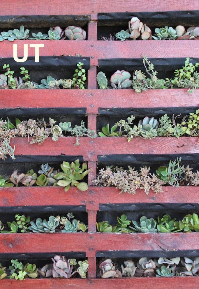 25 Amazing DIY Projects to Repurpose Pallets into Garden Planters --> Vertical Pallet Planter