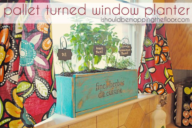 25 Amazing DIY Projects to Repurpose Pallets into Garden Planters --> Kitchen Herb Planter Box
