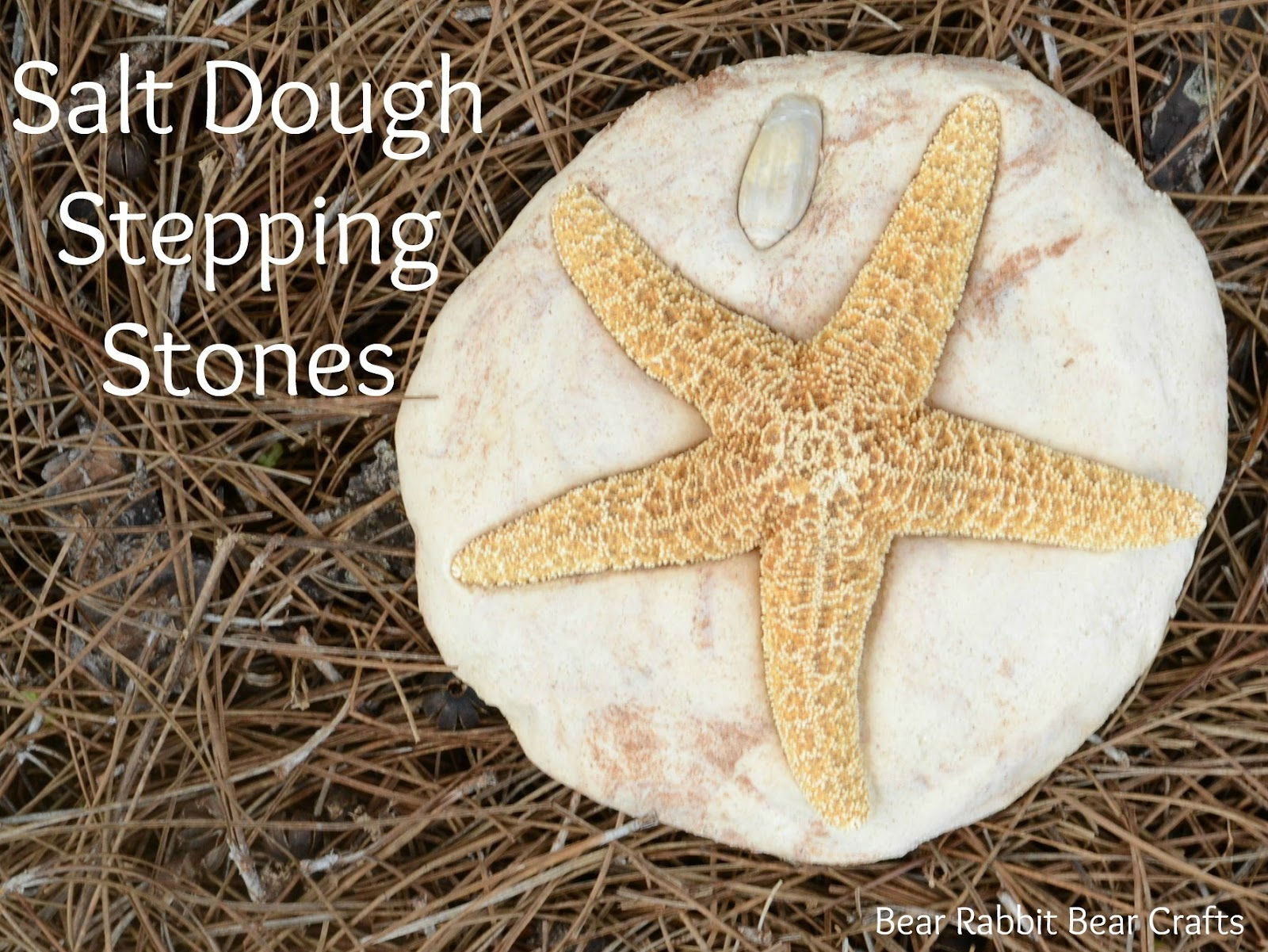 30 Beautiful DIY Stepping Stone Ideas to Decorate Your Garden --> Salt Dough Stepping Stone
