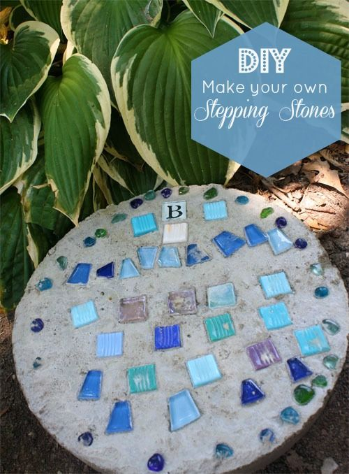 30 Beautiful DIY Stepping Stone Ideas to Decorate Your Garden --> How to make stepping stones