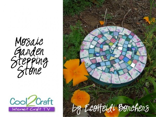 30 Beautiful DIY Stepping Stone Ideas to Decorate Your Garden --> How to Make a Mosaic Garden Stepping Stone