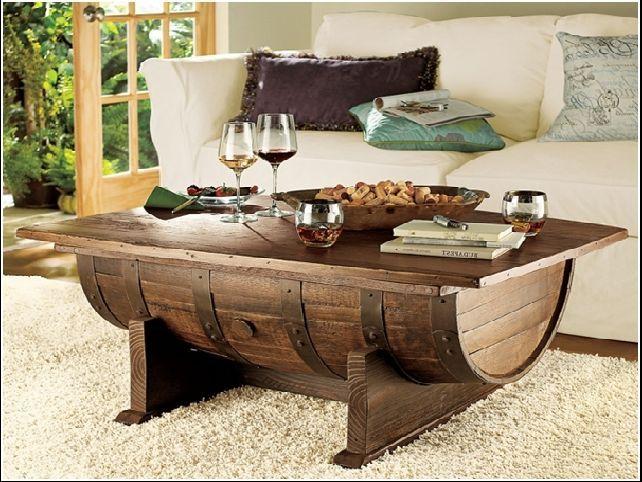 36+ Creative DIY Ideas to Upcycle Old Wine Barrels --> Wine Barrel Coffee Table