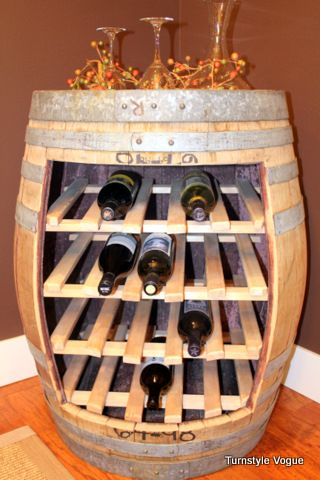 36+ Creative DIY Ideas to Upcycle Old Wine Barrels --> Wine Barrel Racks