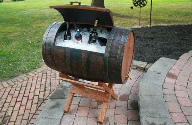 36+ Creative DIY Ideas to Upcycle Old Wine Barrels --> Wine Barrel Chest