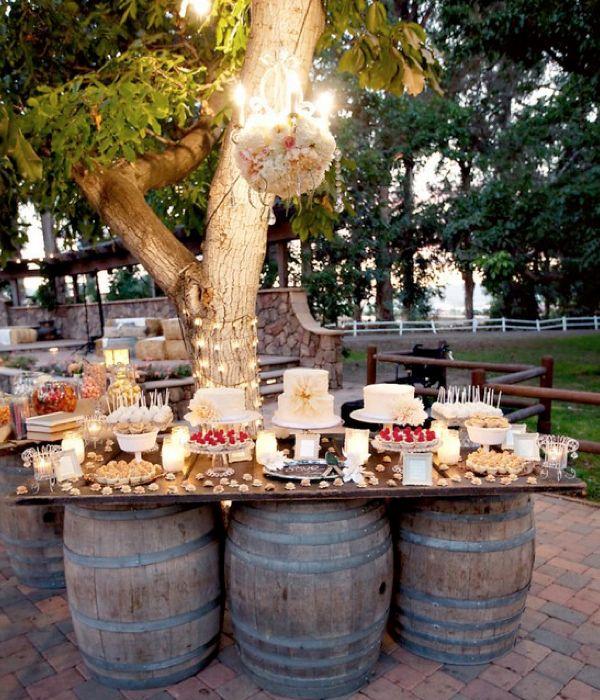 36+ Creative DIY Ideas to Upcycle Old Wine Barrels --> Wine Barrel Outdoor Table