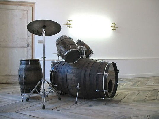 36+ Creative DIY Ideas to Upcycle Old Wine Barrels --> Wine Barrel Drum Set