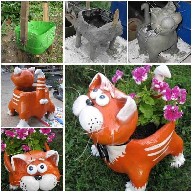 Поделки из пластиковых бутылок для дачи, сада и дома:…