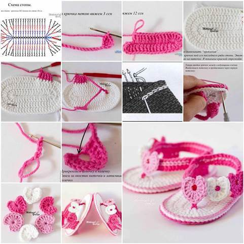 DIY Adorable Crochet Baby Sandals