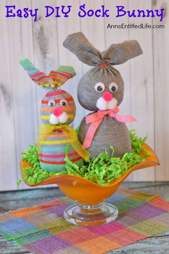 Easy DIY No Sew Sock Bunny