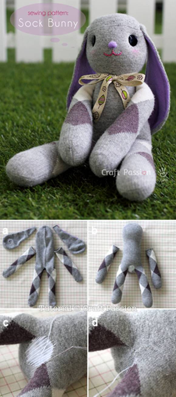 Lop Eared Sock Bunny Tutorial