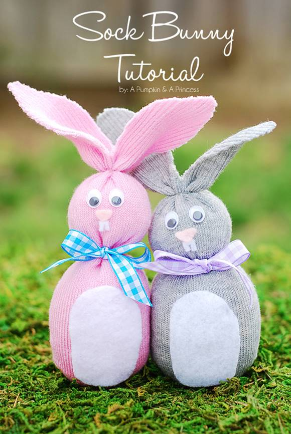 How to make sock bunnies – easy Easter craft idea for kids!